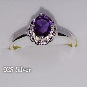 Jewelry - 🎀💍925 Deep Purple Gemstone Ring
